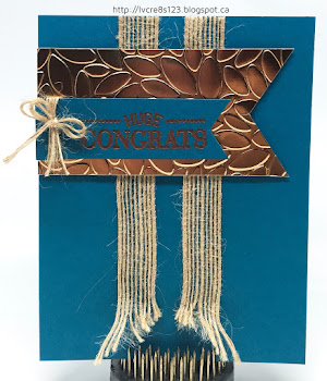 Linda Vich Creates: Copper Congratulations. A simple, masculine card, rich in both texture and color.