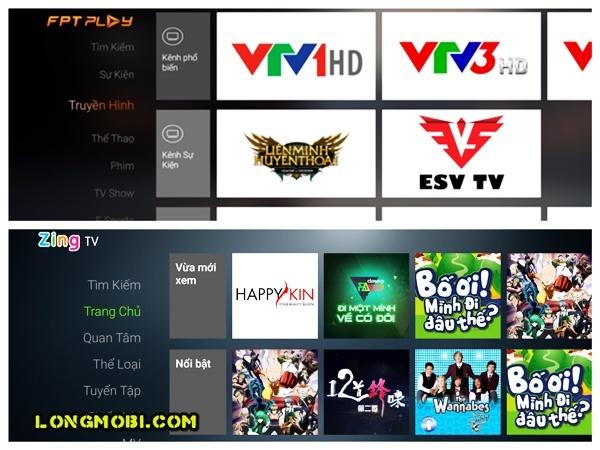 ứng dụng dành cho android tv box