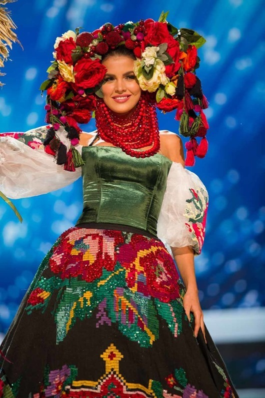 Alena Spodynyuk, Miss Ukraine 2016 debuts her National Costume on stage at the Mall of Asia Arena on Thursday, January 26, 2017.  The contestants have been touring, filming, rehearsing and preparing to compete for the Miss Universe crown in the Philippines.  Tune in to the FOX telecast at 7:00 PM ET live/PT tape-delayed on Sunday, January 29, live from the Philippines to see who will become Miss Universe. HO/The Miss Universe Organization