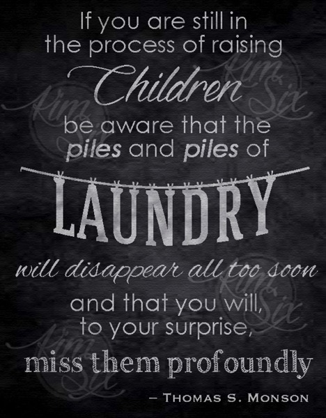 Printable laundry room chalkboard art