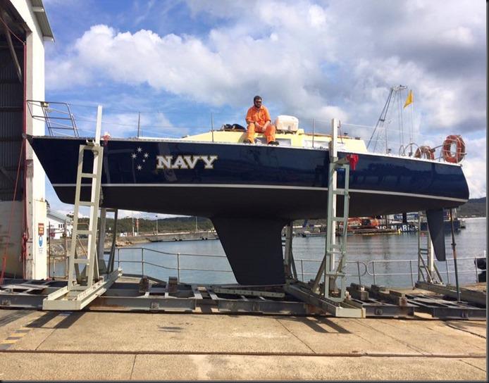 navy yacht