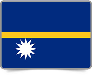 Nauruan framed flag icons with box shadow
