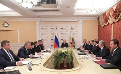 Putin. Meeting at the Makeyev State Rocket Centre.