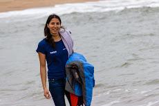 Tanya at the beach