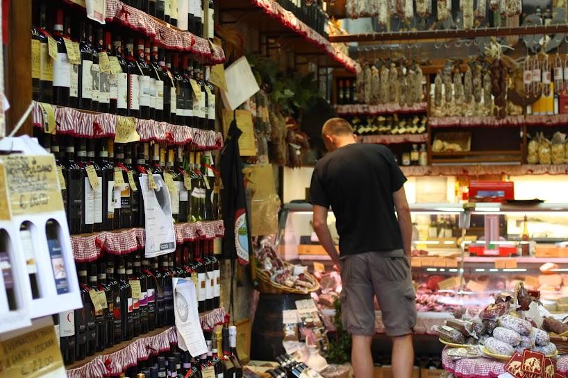 wine wild boar tuscany italy