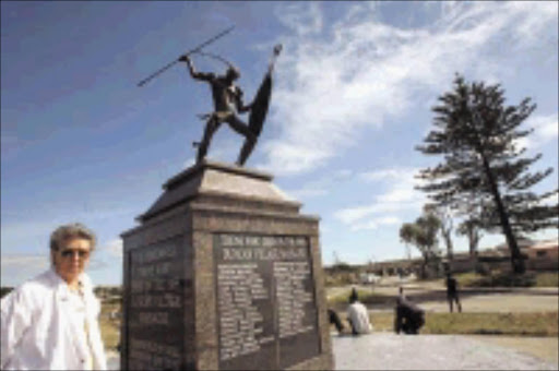 REMINDER: The commemoration symbol of soldiers killed in the Anglo-Zuluwar at Isandlwana. © Sowetan.