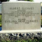 Albert Gleaves Son of Henry Albert and Eliza Tannehill Gleaves Evelina Heap  Gleaves Wife of Albert Gleaves Arlington National Cemetery Arlington County, Virginia