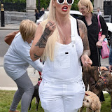 OIC - ENTSIMAGES.COM - Jodie Marsh at the Puppy Farming Protest - demonstration and photocall 24th May 2016, rally and photocall in London's Parliament Square to raise awareness of the UK's cruel puppy farming trade, in association with PupAid, Boycott Dogs4Us and C.A.R.I.A.D.  Photo Mobis Photos/OIC 0203 174 1069