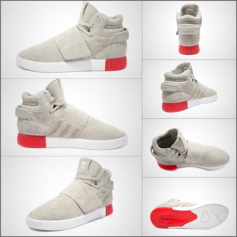 Men 's Tubular Invader Strap Casual Lace Up Shoe Shiekh Shoes