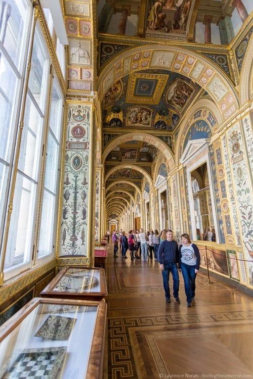 Hermitage St Petersburg Russia interior corridor