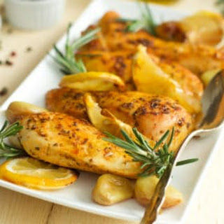 Rosemary Lemon Roasted Chicken Breasts.
