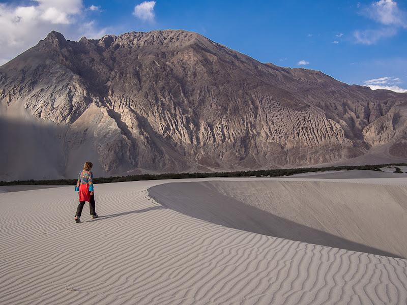 Desert de Hundar entre grans muntanyes