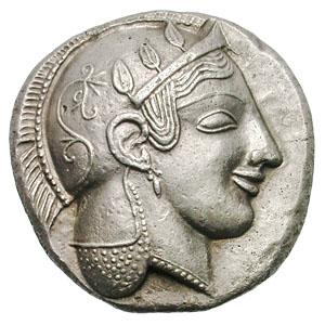 Reproducción de decadracma ateniense Decadracma+ateniense