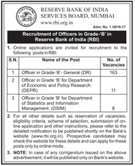 RBI Recruitment 2016-17 www.indgovtjobs.in