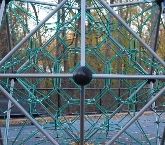 symmetrical playground climbing web