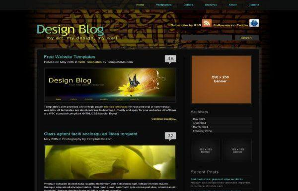 Design Blog CSS Website Template