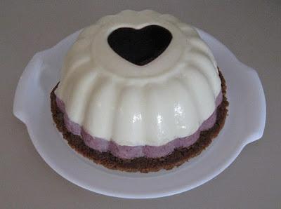 Bavarois Saint Valentin au chocolat blanc et à la mûre