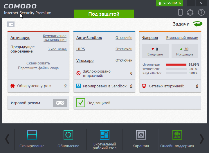 Comodo Internet Security Free - Лучшее решение для защиты Windows 10