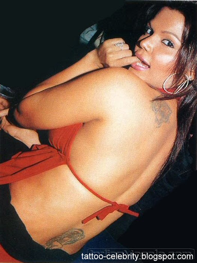rakhi sawant back tattoos