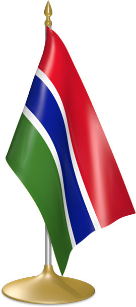Gambian table flags - desk flags