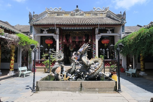 Courtyard in the Quang Trieu (Canton) Assembly Hall in Hoi An ancient town