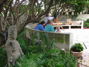 Photo: Artists in the Gardens at the Society of the Four Arts 12-12-13