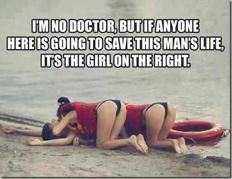 save mans life
