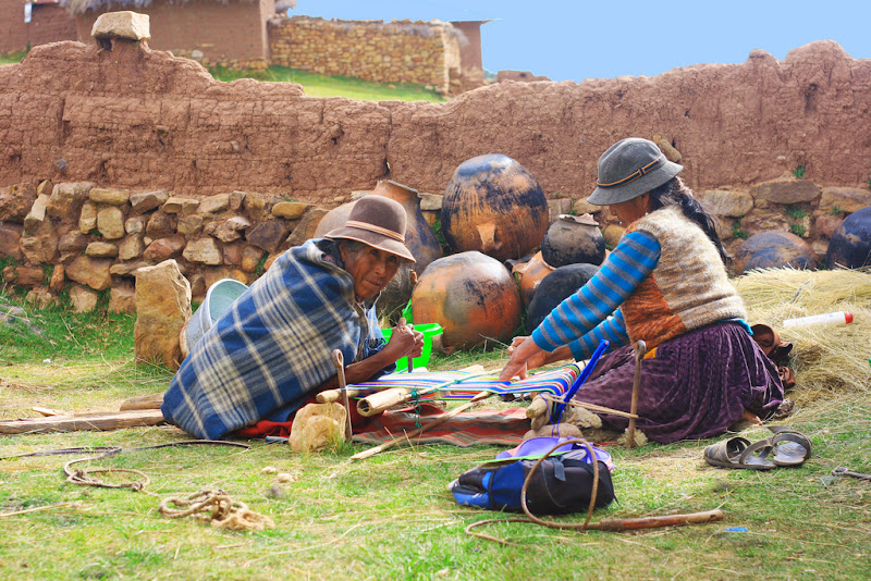 Aymara people weaving