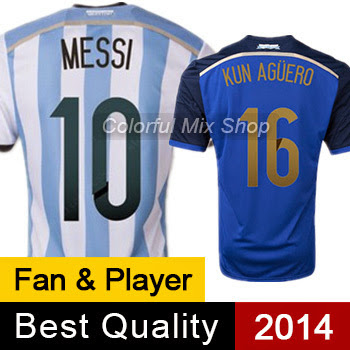 Free Shipping ARGENTINA JERSEY MESSI Argentina World Cu