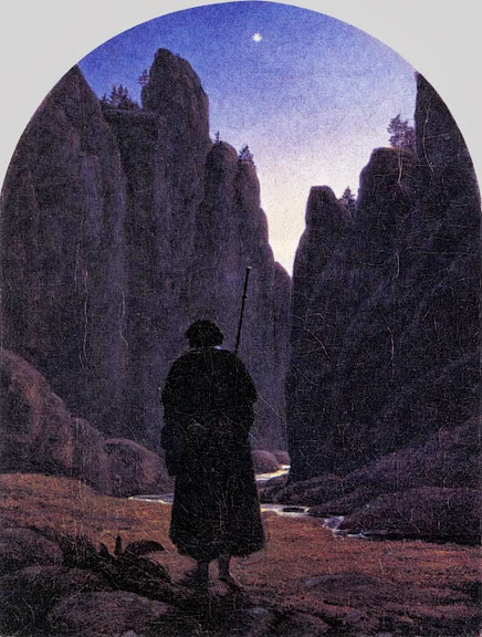 Carl Gustav Carus - Pilgrim in a Rocky Valley