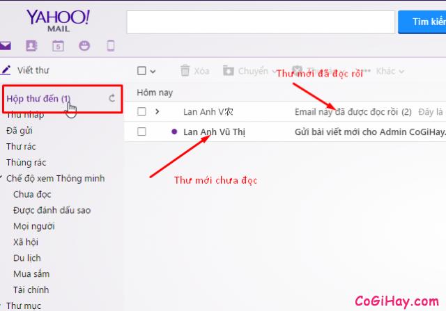 Kiểm tra thư Yahoo Mail