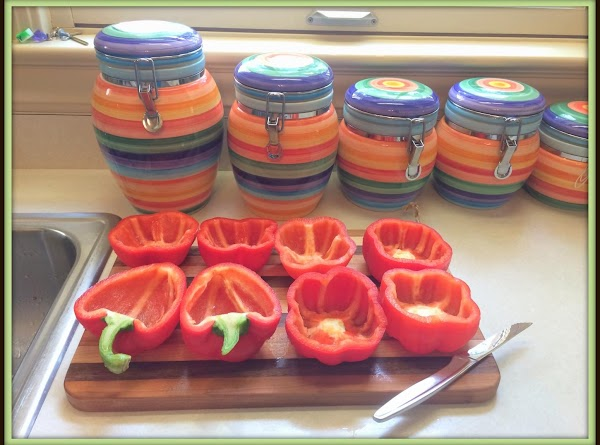Wash and slice up your peppers that will be used. I sliced just a...