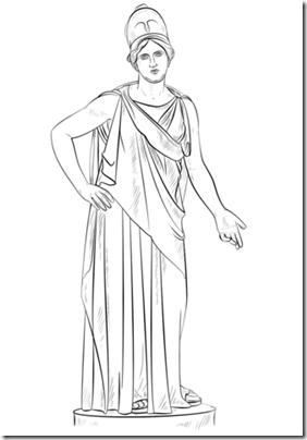 athena-goddess-coloring-page