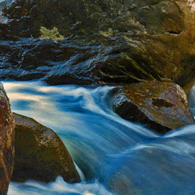 by Bryant Mountjoy - Nature Up Close Water ( water, mountain, rock, river )
