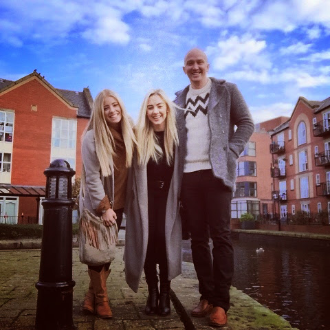 Kerry, Hollie and Matthew next to the Canal.