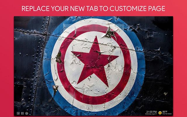 Captain America Wallpaper HD Custom New Tab