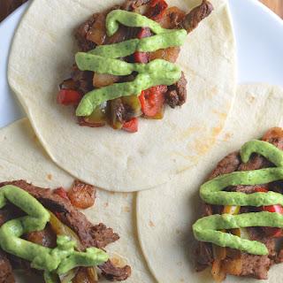 20 Minute Steak Fajitas with Avocado + Lime