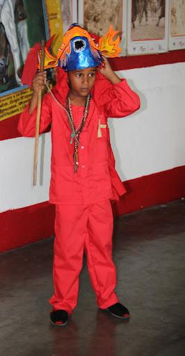 Diablito de Yare se desenmascara en el día de Corpus Christi en San Francisco de Yare, Municipio Bolivar, Miranda Venezuela