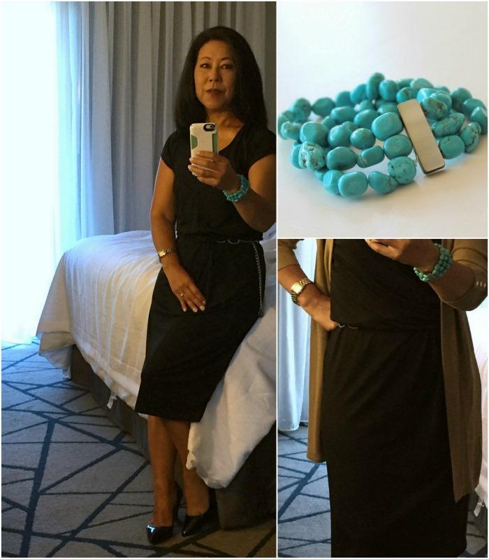 Business Travel 50  Black Packable Dress