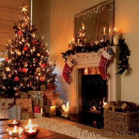Id es pour no l d coration du salon pour no l christmas - Decoration interieur de noel ...