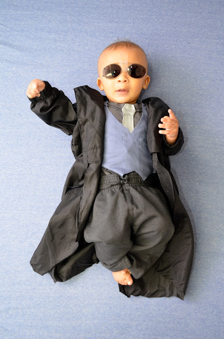 Morpheus Matrix baby costume