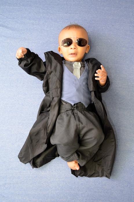 Morpheus Matrix baby costume