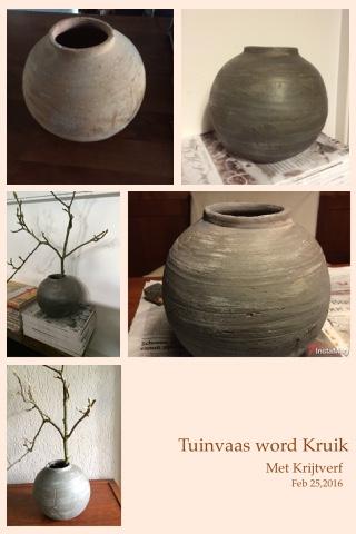 Vaas bewerkt met Krijtverf en Wax van Made@Home