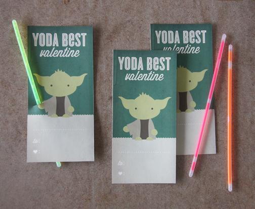 Yoda Glow Stick Valentine