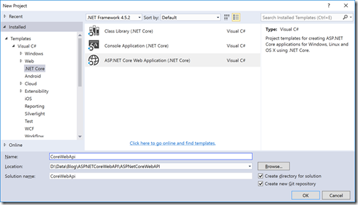 how to create asp net web application
