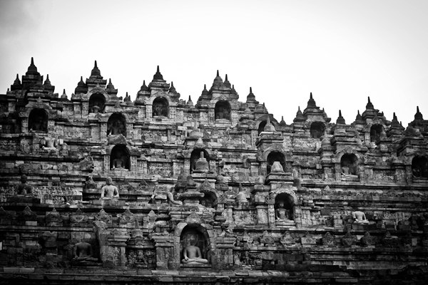 Borobudur in Monochrome