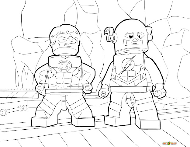 Lego Dc Universe Super Heroes Coloring Pages  Free Printable Lego Dc  Universe Super Heroes Color