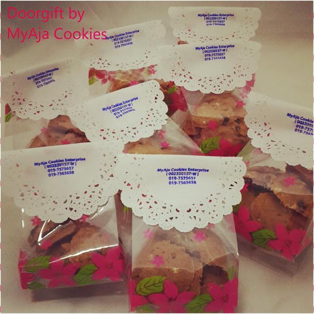 Doorgift pek kecil dengan hanya rm1 myaja cookies set for Idea door gift kahwin murah