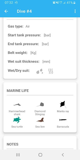 Screenshot for Dive log PRO in United States Play Store