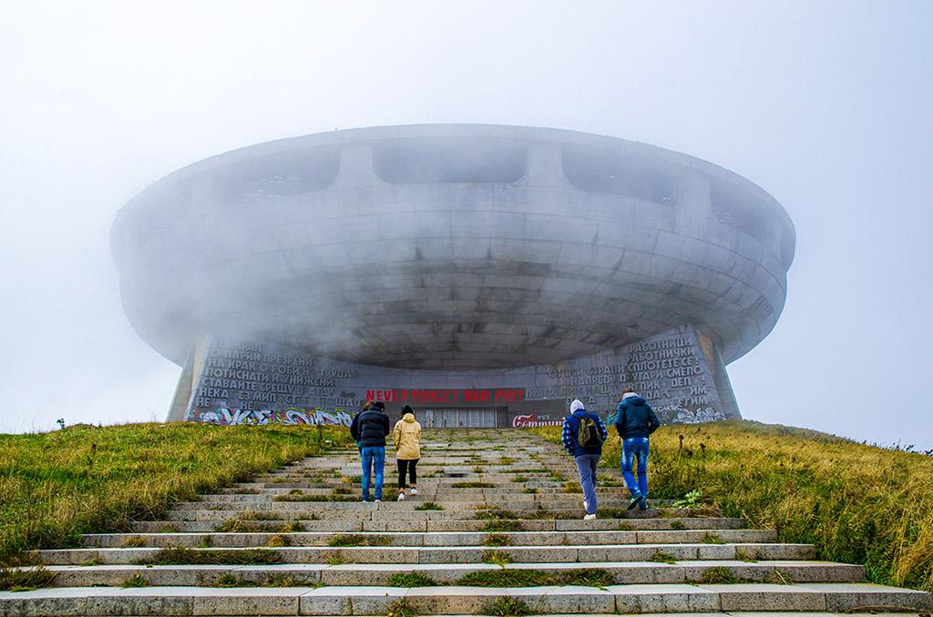 保加利亞的UFO 飛碟紀念碑 Buzludzha, Bulgaria